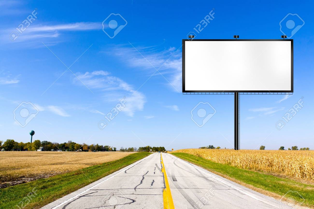 Billboard on Country Road Stock Photo - 11954224