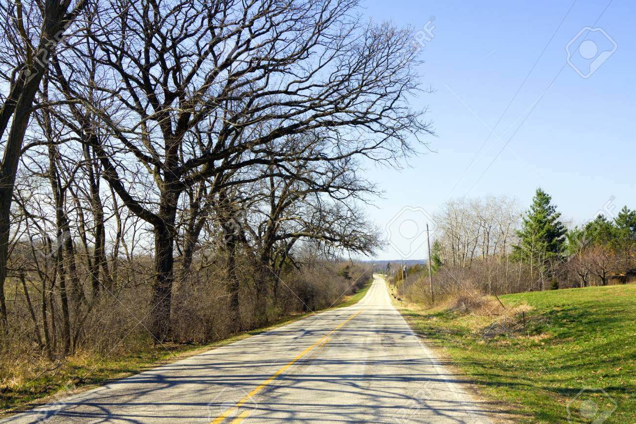 American Country Road Stock Photo - 12940835