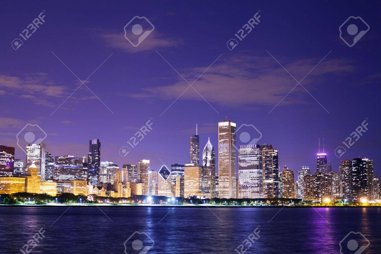 Chicago at Night - 14364889