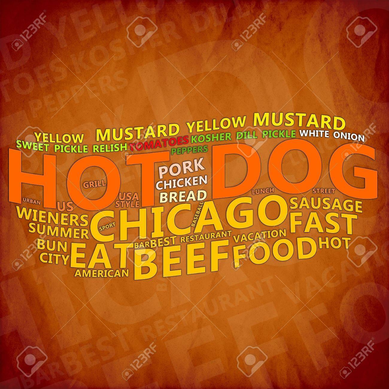 Hot Dog Text Cloud Stock Photo - 17074023