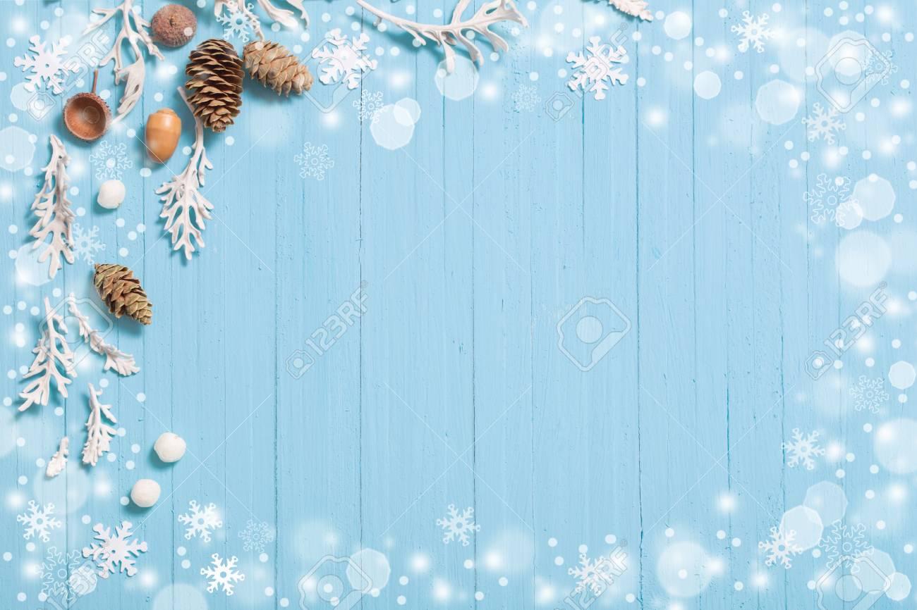 Beautiful Christmas Background.Beautiful Blue Christmas Background