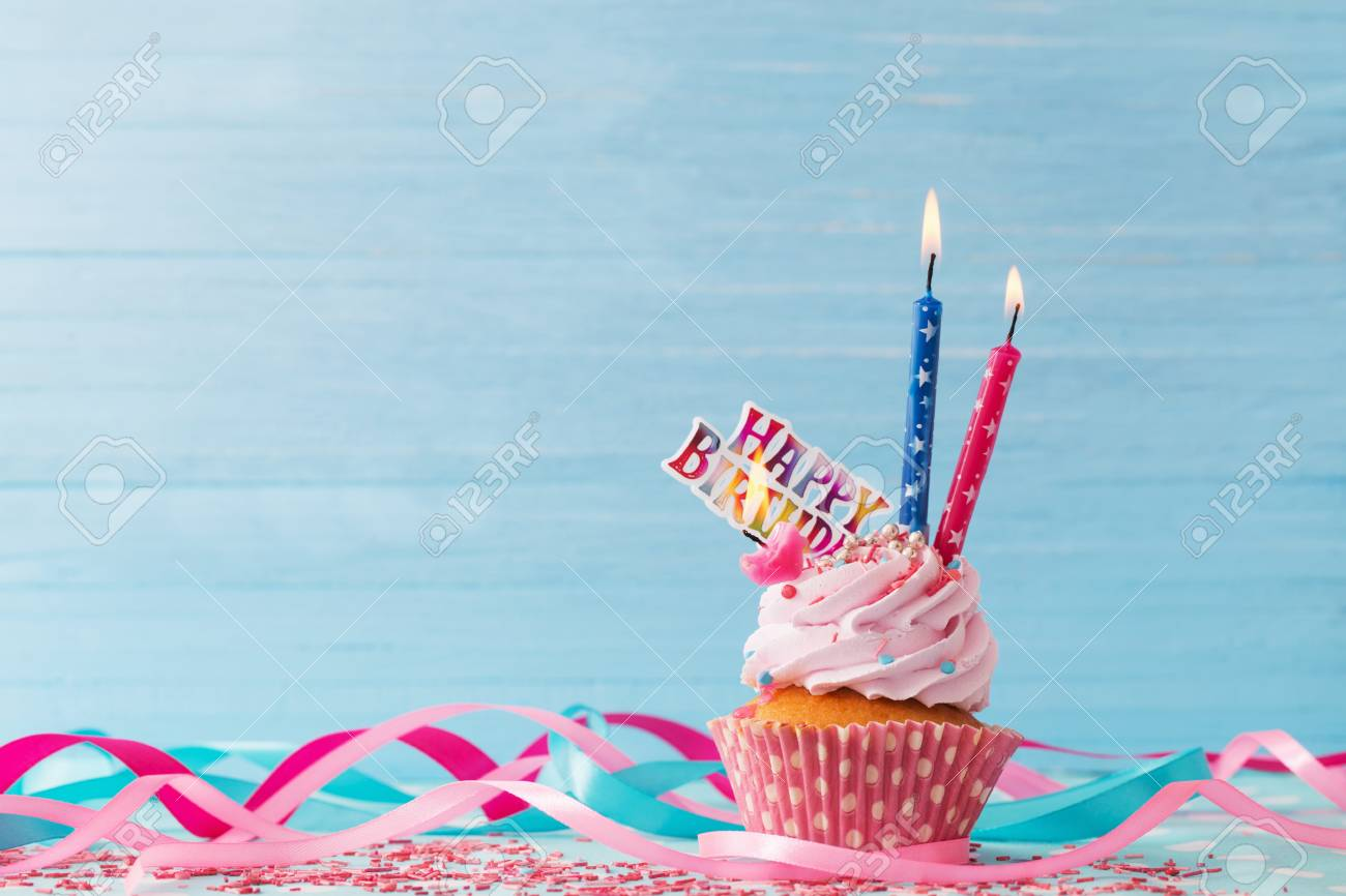 Prime Birthday Cake On Blue Wooden Background Stock Photo Picture And Funny Birthday Cards Online Elaedamsfinfo