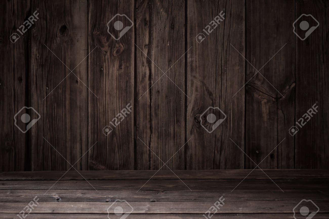 rustic old dark wooden background - 123222093