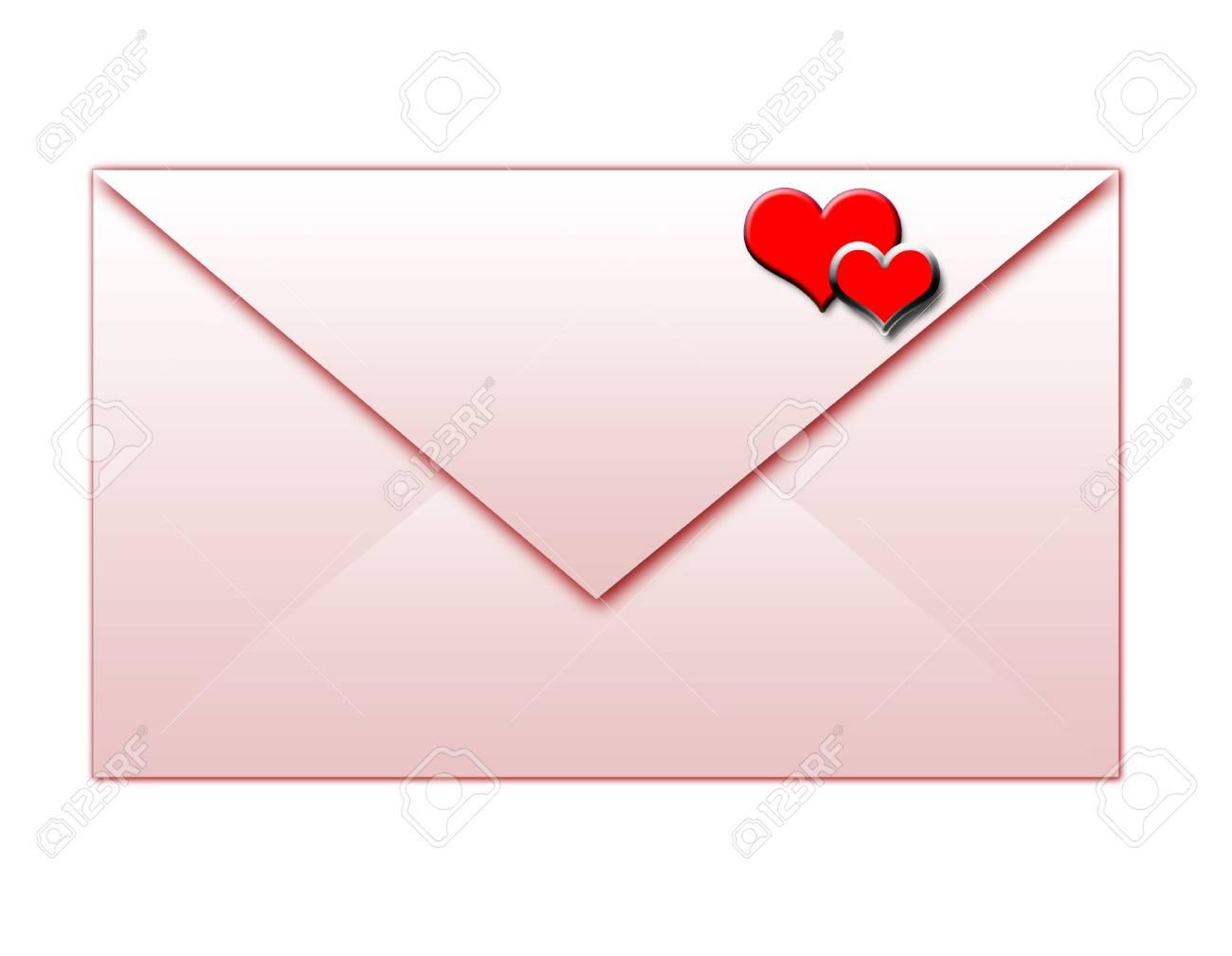 envelope for lovers Stock Vector - 4884598