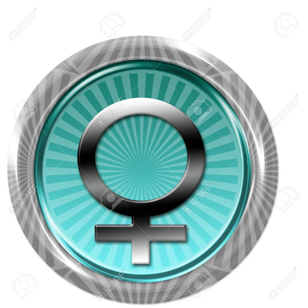 Button with female sign Stock Photo - 6595318
