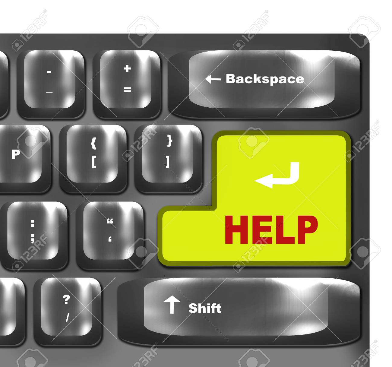 computer keyboard with help  key Stock Photo - 6679040