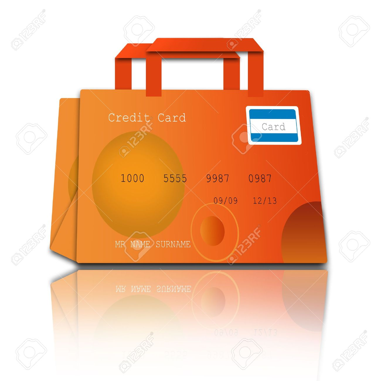 shopping bag made of credit cards Stock Photo - 7774812