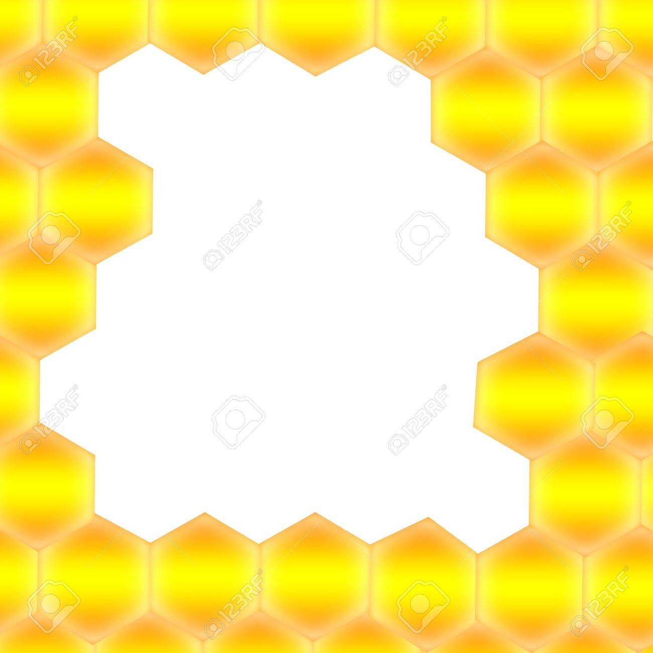 Honeycomb with frame for text - Abstract seamless pattern of honeycomb form. Background for your design. Stock Photo - 12027025