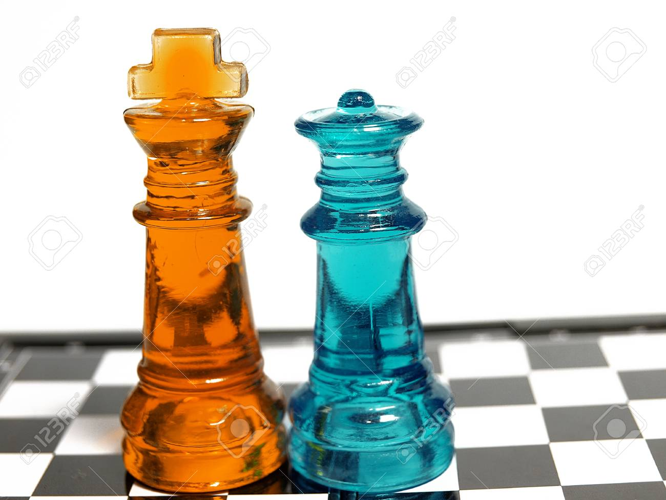 Colorful chess made of glass Stock Photo - 13099334