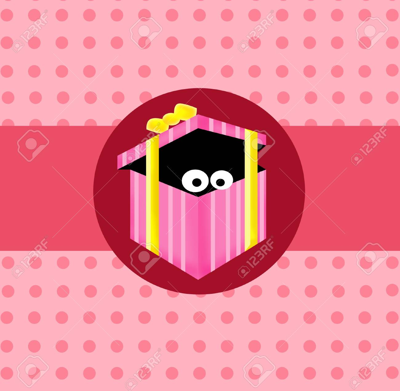 Looking from inside pink gift box Stock Photo - 13450852