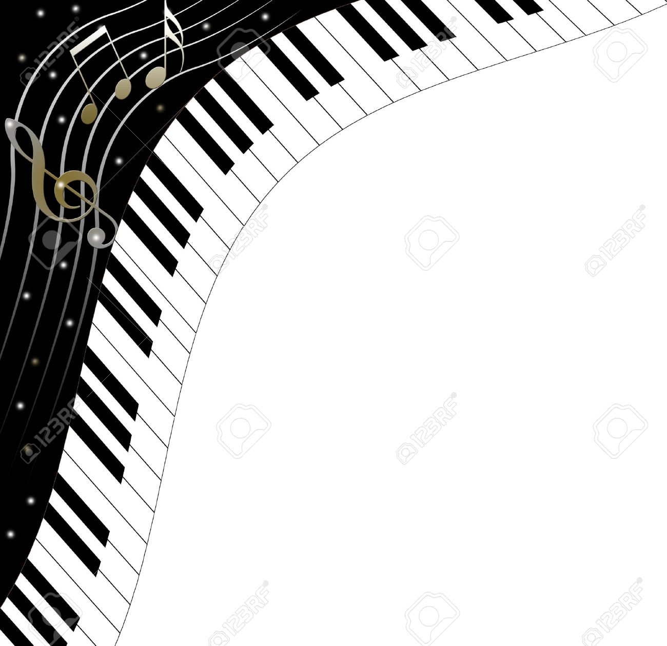 Music text frame piano keys Stock Photo - 15502455