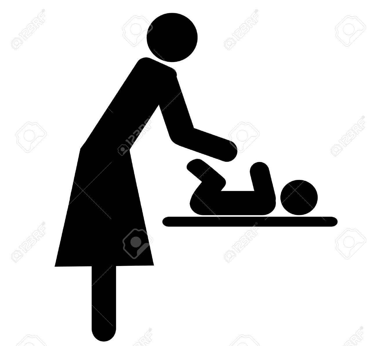 Symbol for women changing babies diapers stock photo picture and symbol for women changing babies diapers stock photo 15807305 biocorpaavc Gallery