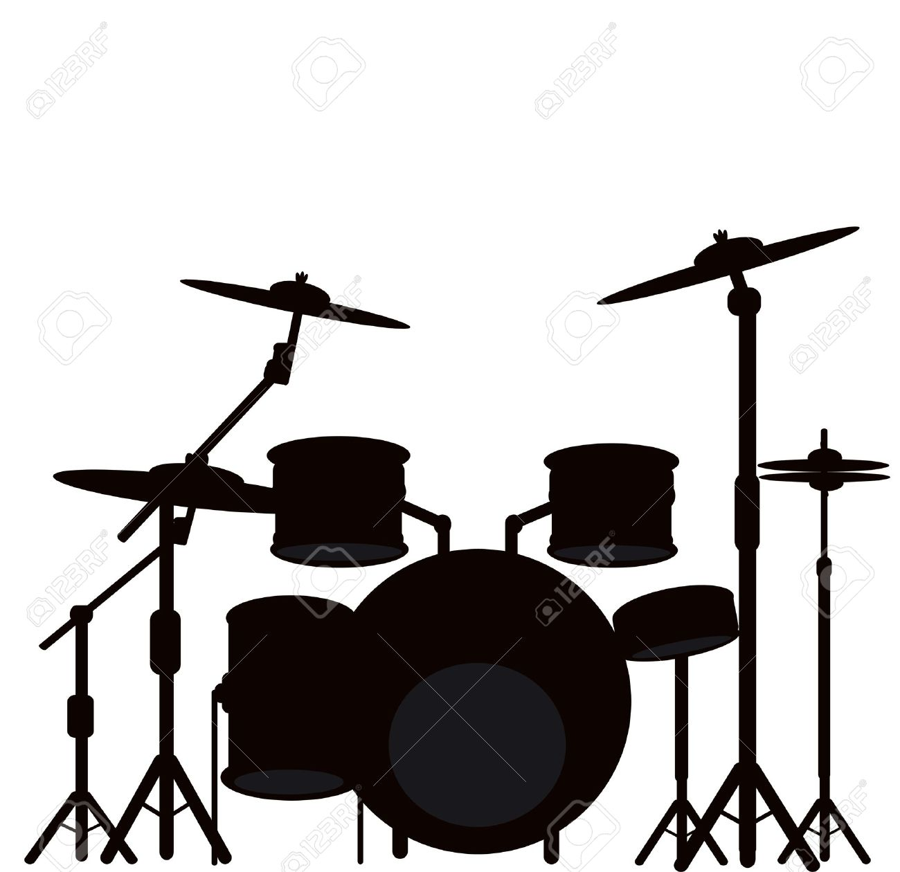 Illustration Of A Drum Kit Stock Photo, Picture And Royalty Free ...