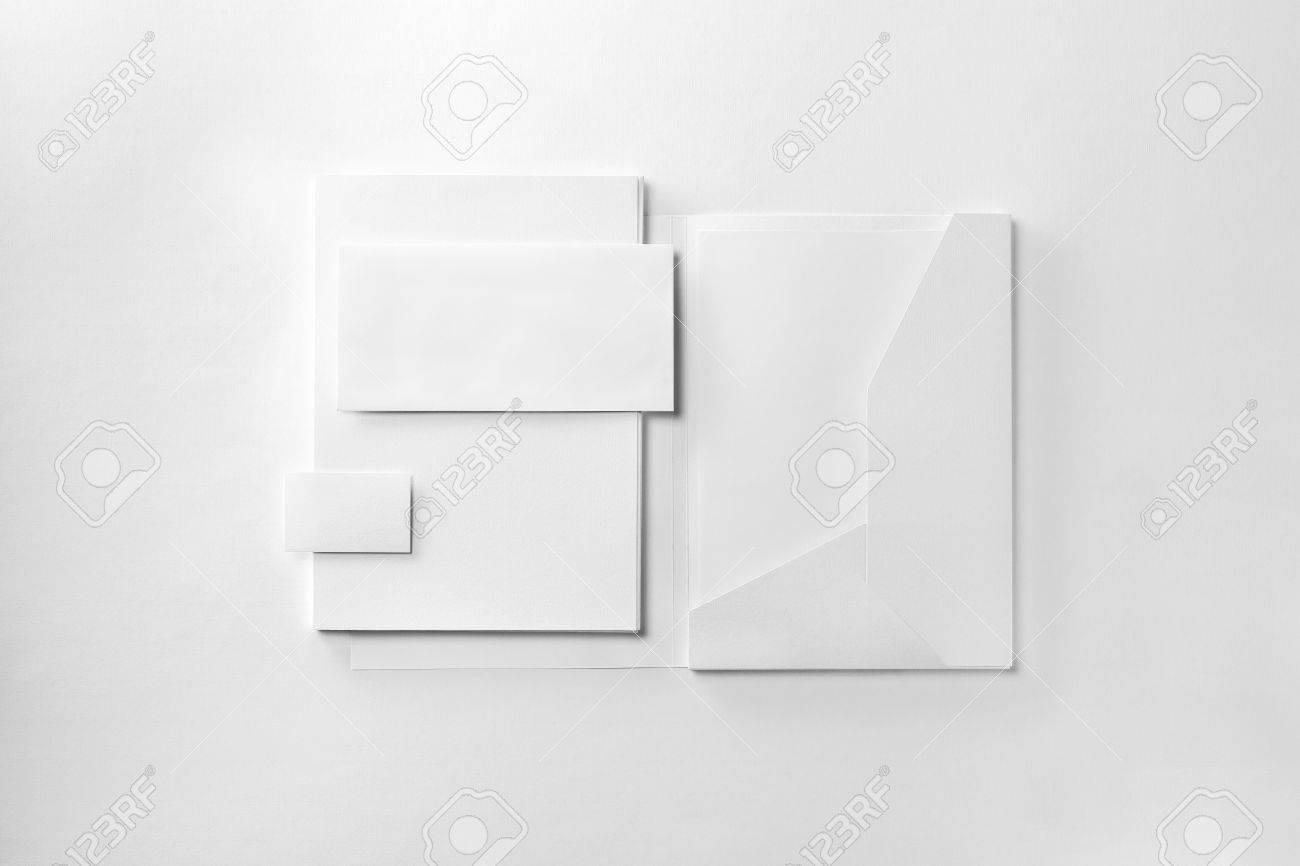 Corporate Stationery Set Mockup. Presentation Folder, Envelope ...