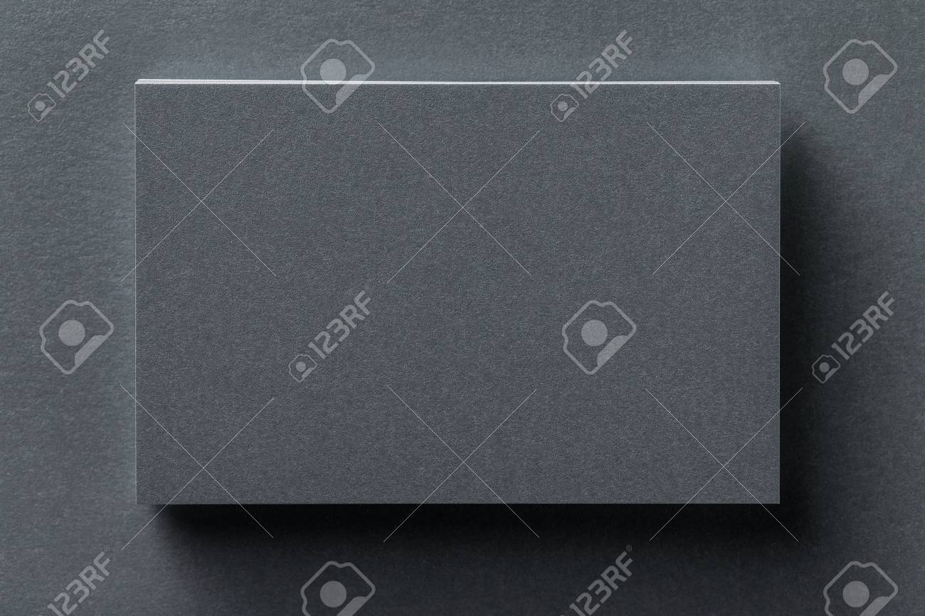 Mockup Of Silver Business Card Stack At Textured Designer Paper ...