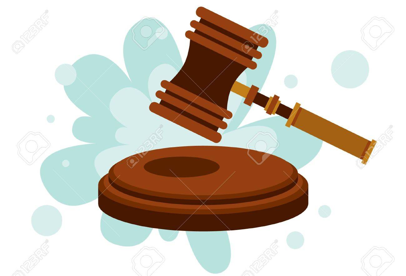 An image of a wood gavel hitting down on an anvil Stock Photo - 5833851