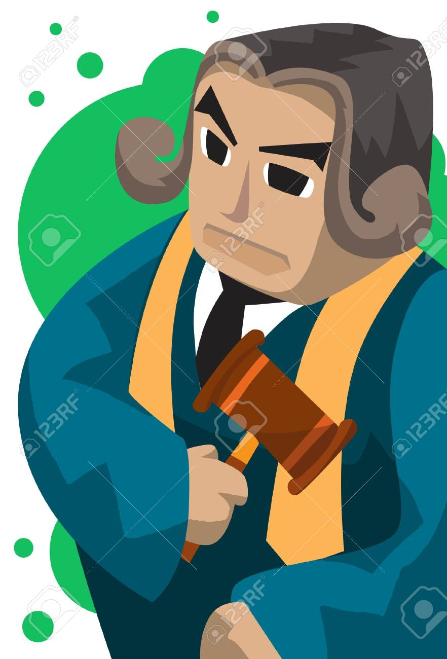 Image of an impartial judge who is holding a mallet. Stock Photo - 5929736