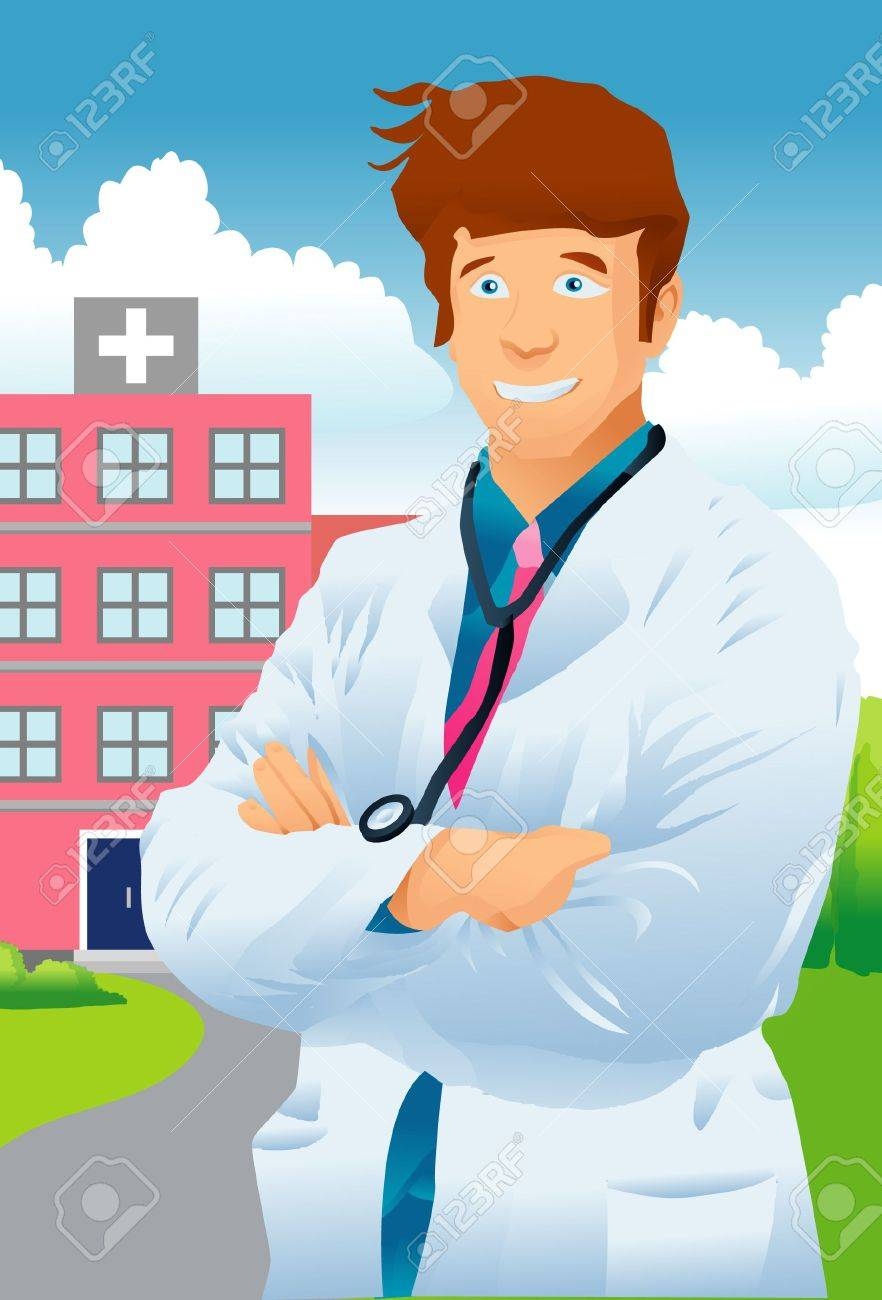 White apron health - An Image Of A Doctor Wearing A White Apron And A Stethoscope Round His Neck Standing