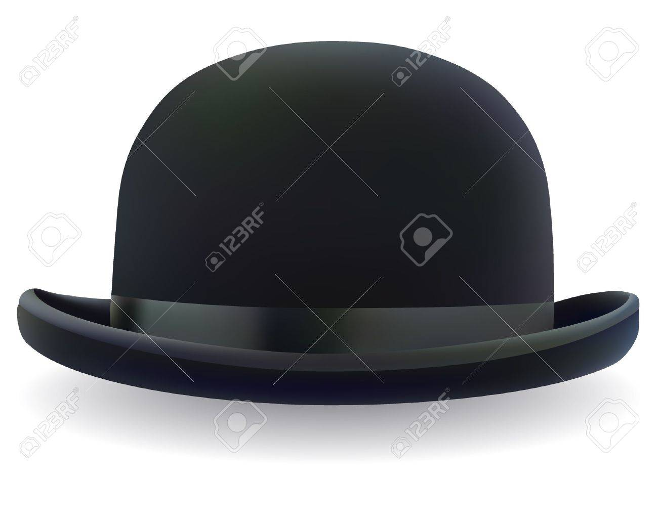 e84c0912525 A Black Bowler Hat On A White Background Royalty Free Cliparts ...