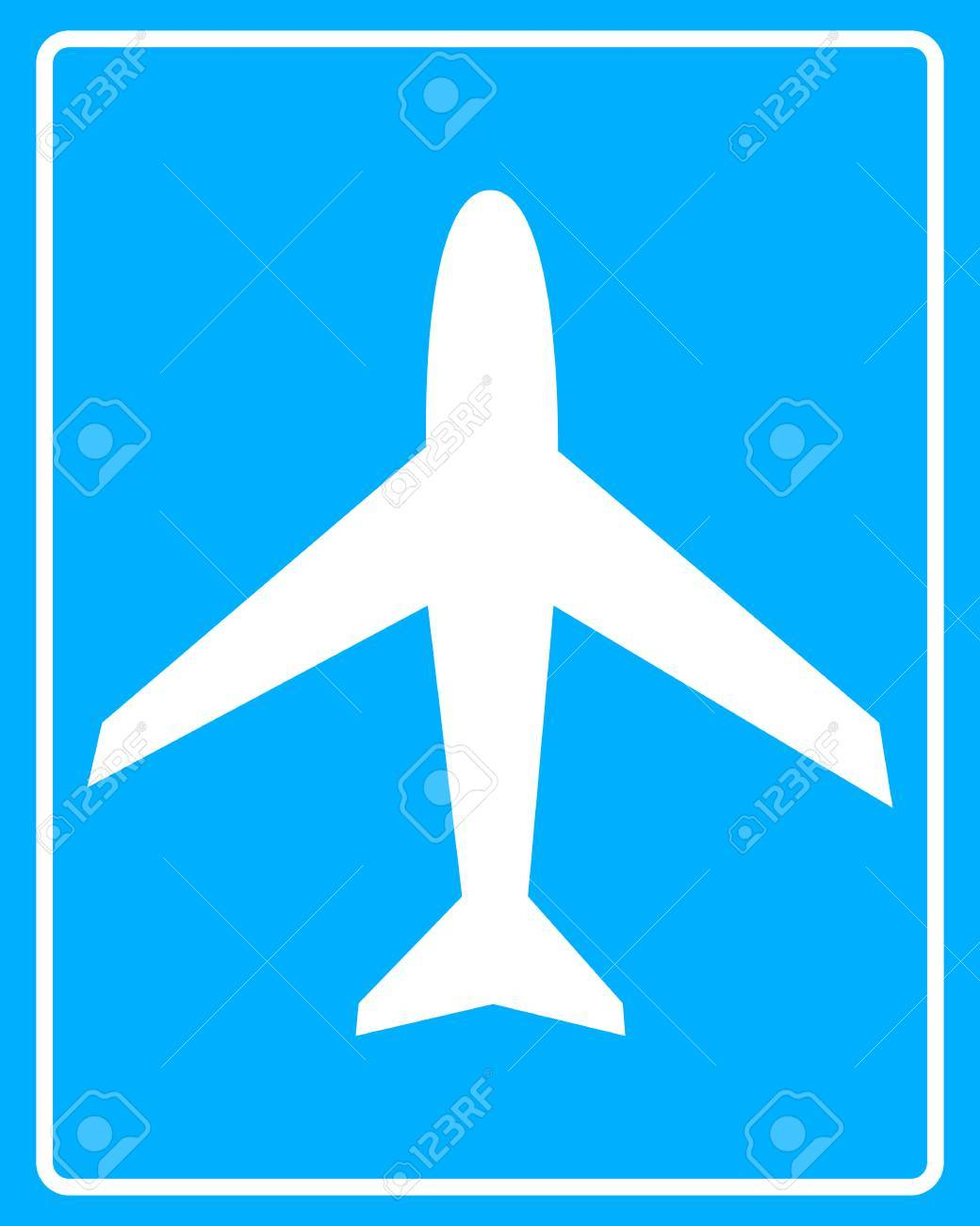 Plane white sign on a blue background in frame royalty free plane white sign on a blue background in frame stock vector 29541828 jeuxipadfo Gallery