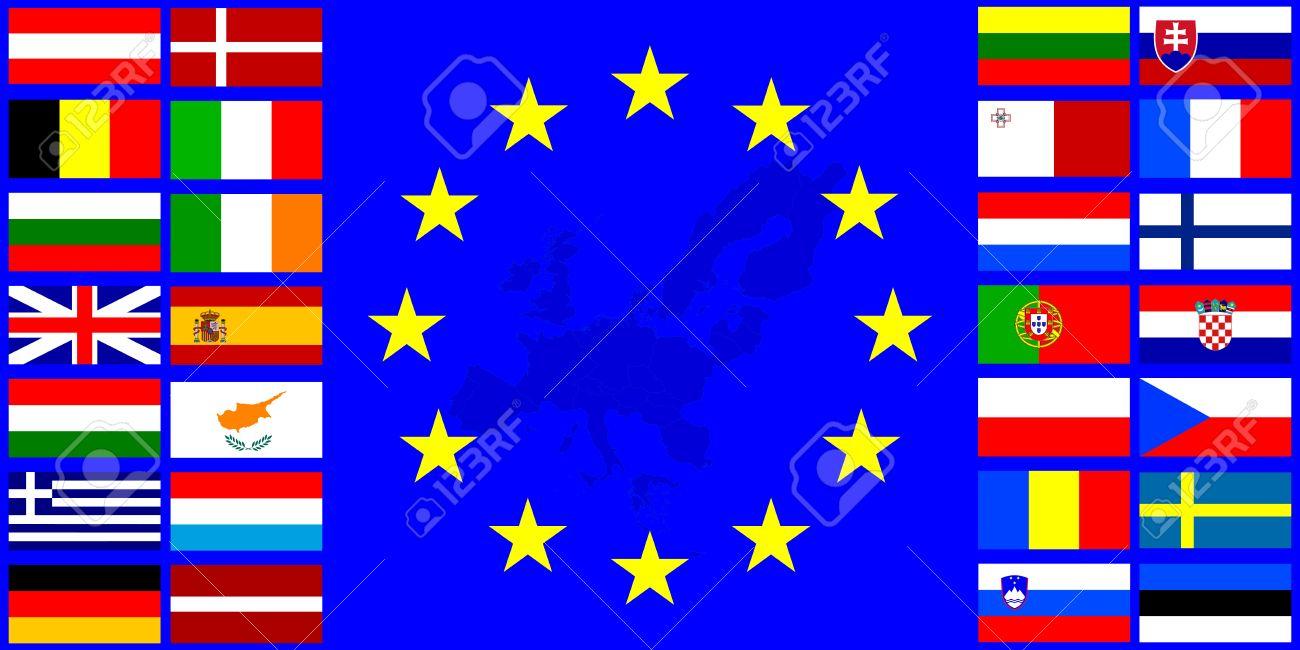 http://previews.123rf.com/images/mayboro/mayboro1407/mayboro140700055/29823305-Banderas-de-la-bandera-de-la-Uni-n-Europea-de-la-UE-sobre-un-fondo-con-los-mapas-de-contorno-Foto-de-archivo.jpg