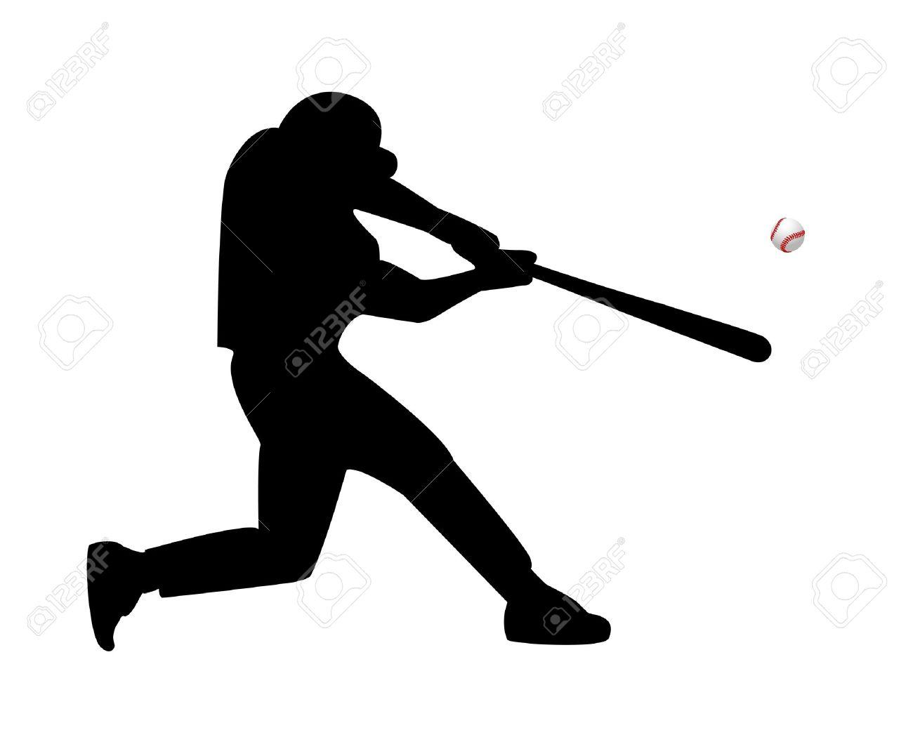 baseball player hits the ball on a white background royalty free rh 123rf com baseball player vector clipart baseball player victor martinez
