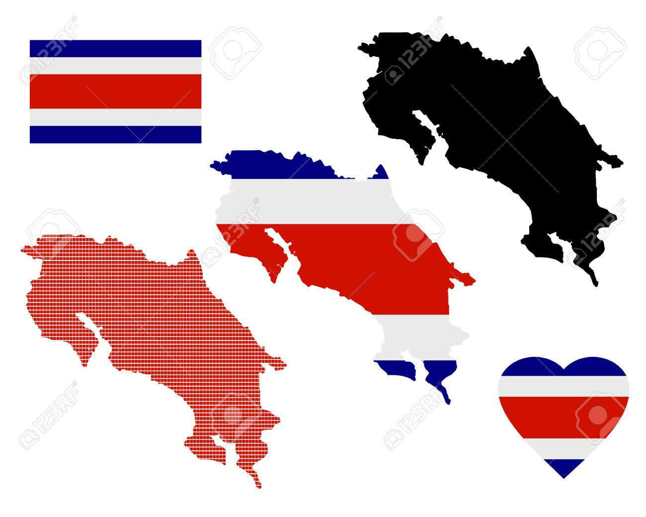 Map of costa rica different types and symbols on a white map of costa rica different types and symbols on a white background stock vector 35776748 biocorpaavc Gallery