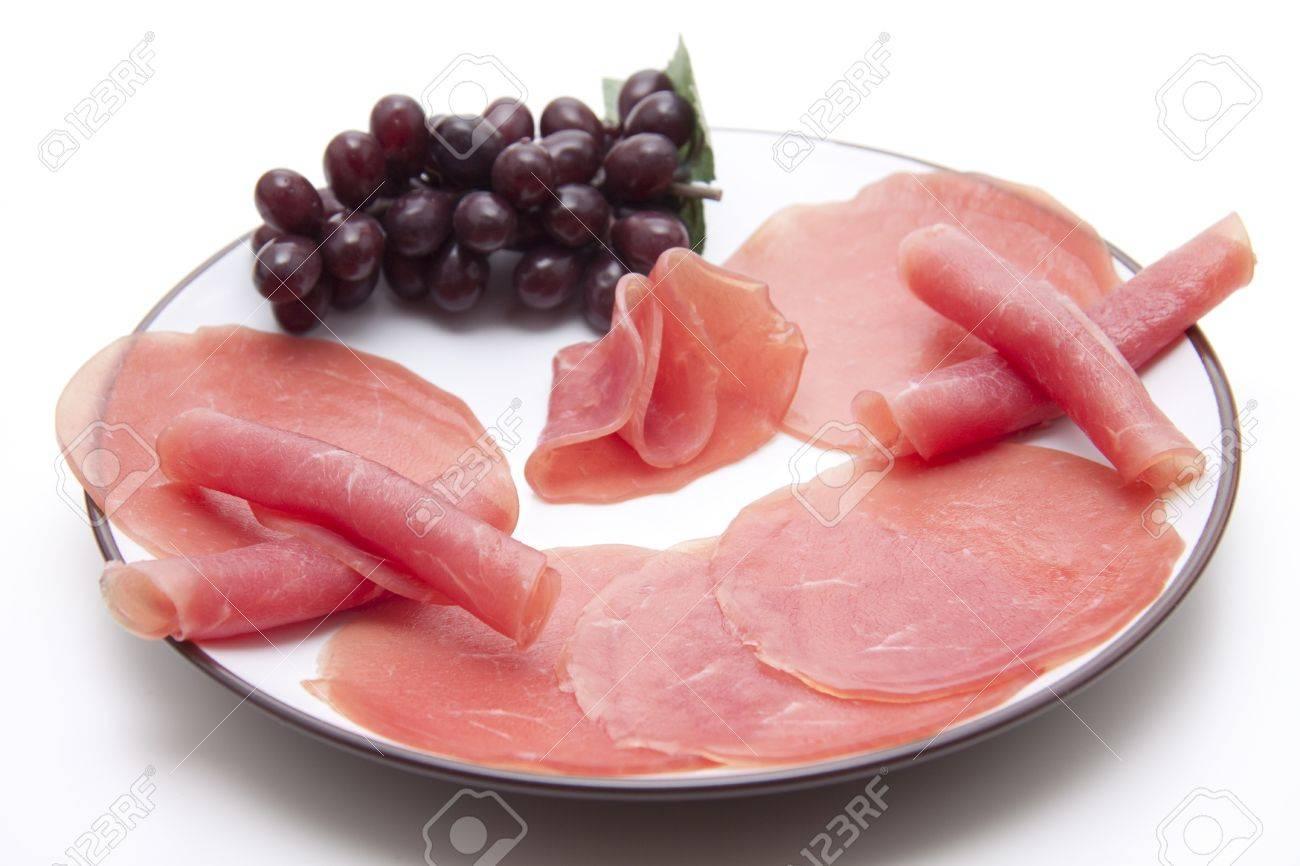 Salmon ham and grapes Stock Photo - 13342976