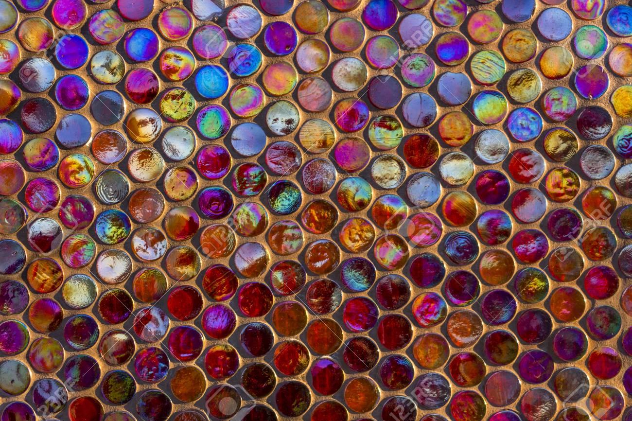 Archivio Fotografico   Priorità Bassa Moderna Delle Mattonelle Di Mosaico Di  Vetro