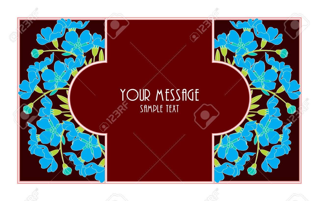 Carte De Visite Floral Vintage Invitation Ou Une Annonce Clip Art