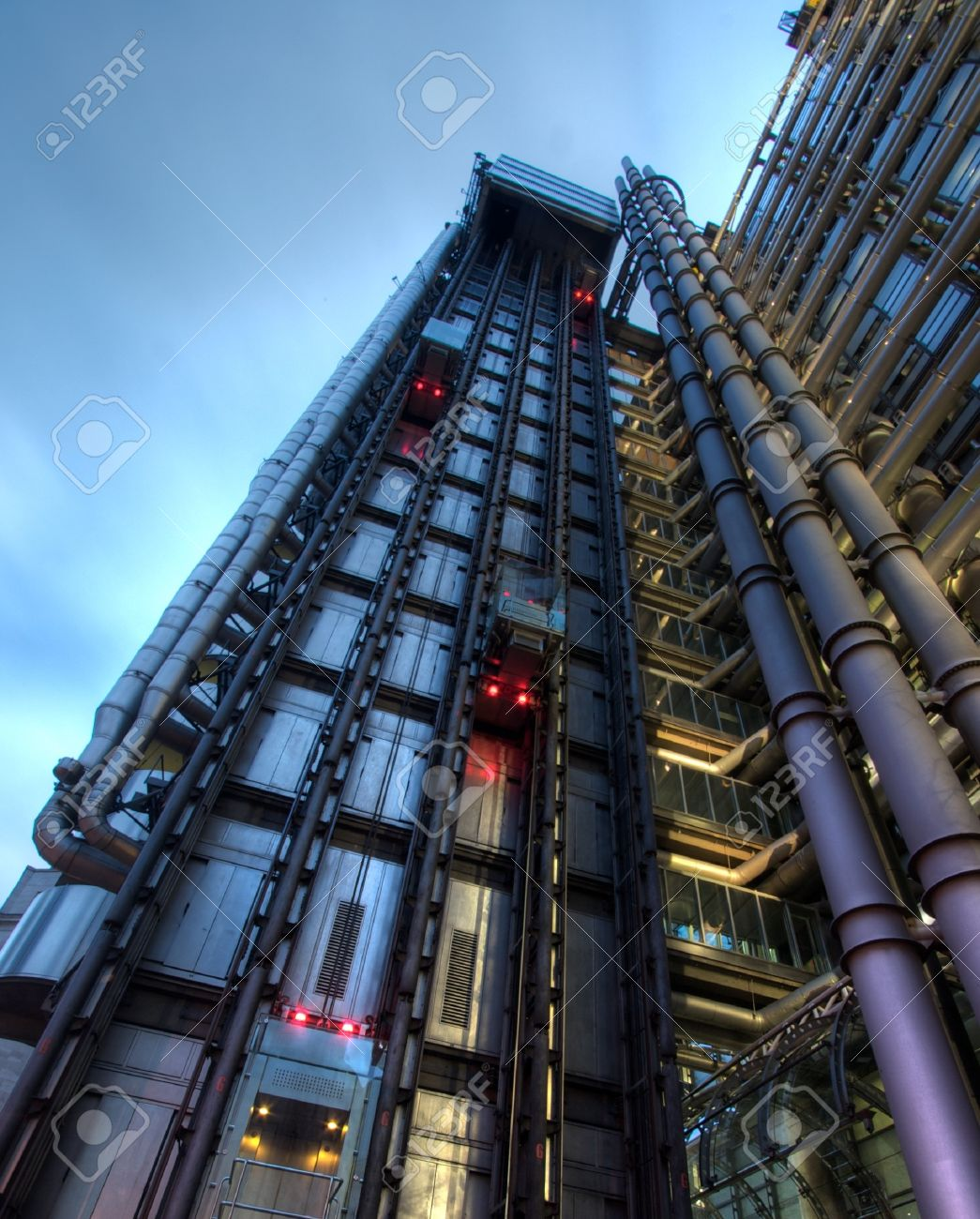 Lifts on the side of Lloyds building, London, England Stock Photo - 4397396
