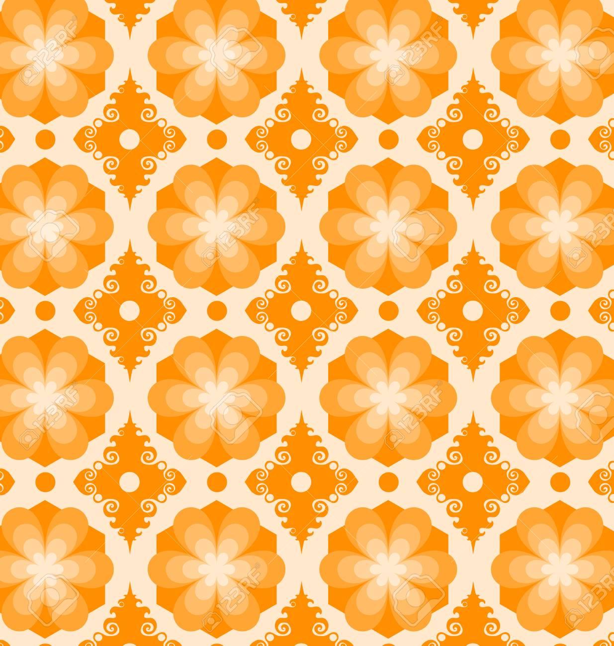 花柄シームレスなモロッコ ポルトガル タイル Azulejo 装飾品 壁紙 パターンの塗りつぶし テクスチャ タイル Web ページの背景に使用できます のイラスト素材 ベクタ Image