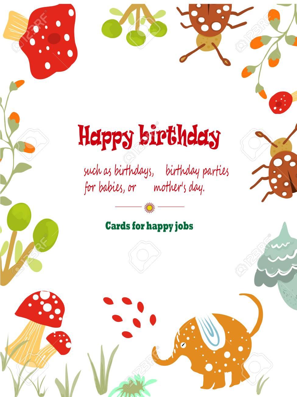 Cute Invitation Card For Parties Invitations Happy Birthday