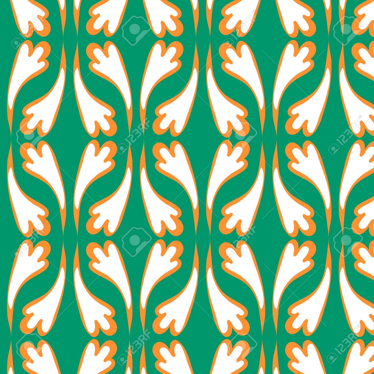 Vector Illustration Of A 20s Wallpaper Seamless Patterns Royalty ...