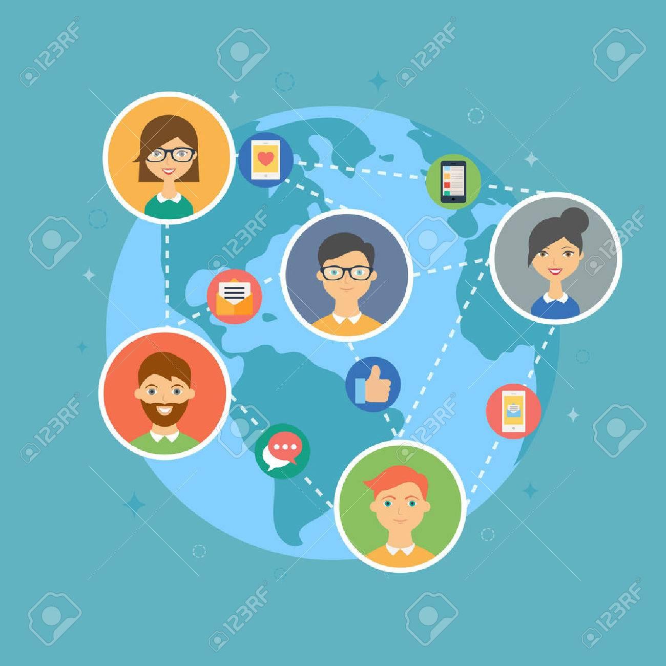 Social media marketing concept illustration - 31766965