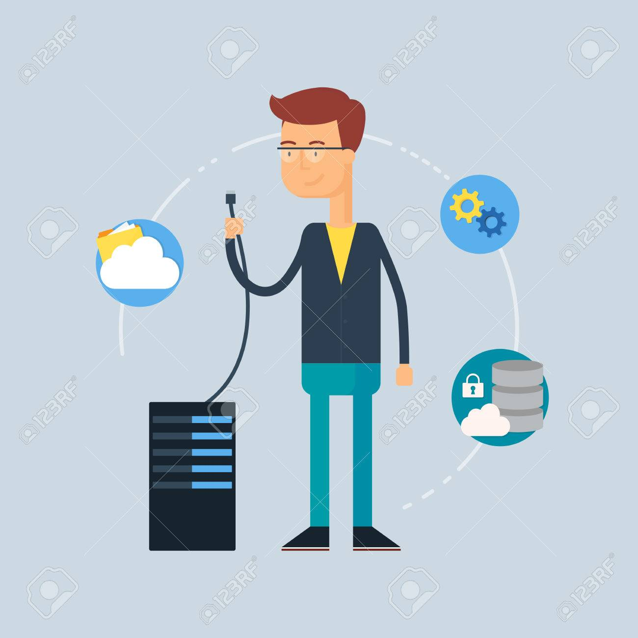 Administrator - Administrator character system administrator vector illustration flat style illustration