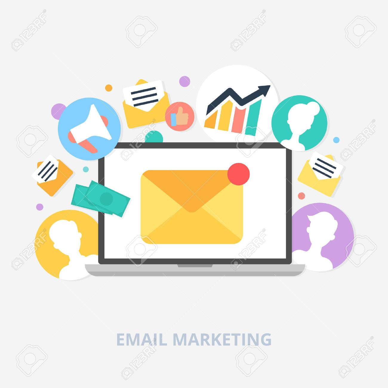 Email marketing concept vector illustration, flat style - 36964994