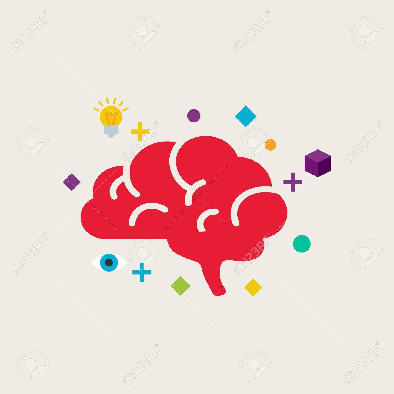 Brain training vector illustration - 50828049