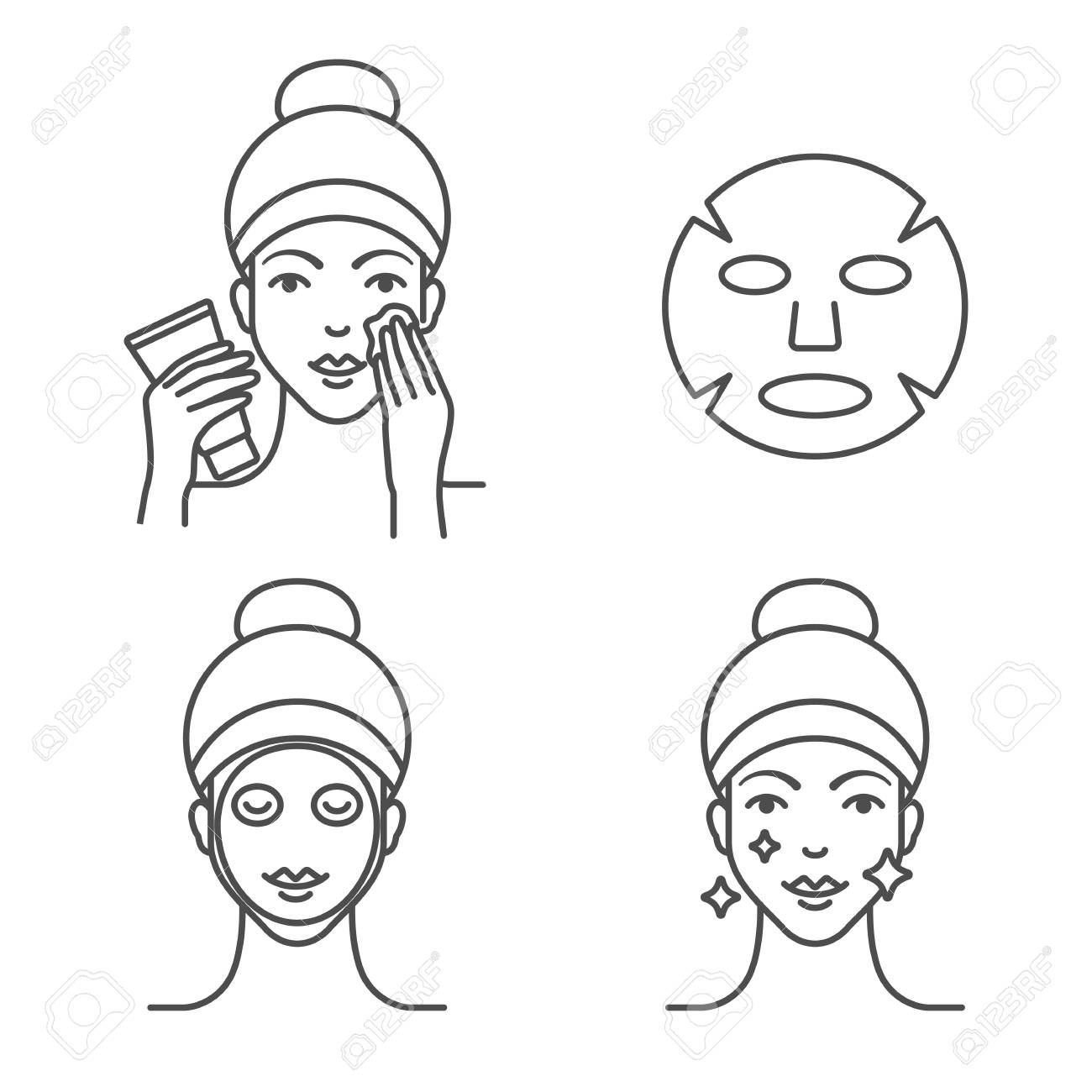 How to use a sheet mask, steps. - 110023238