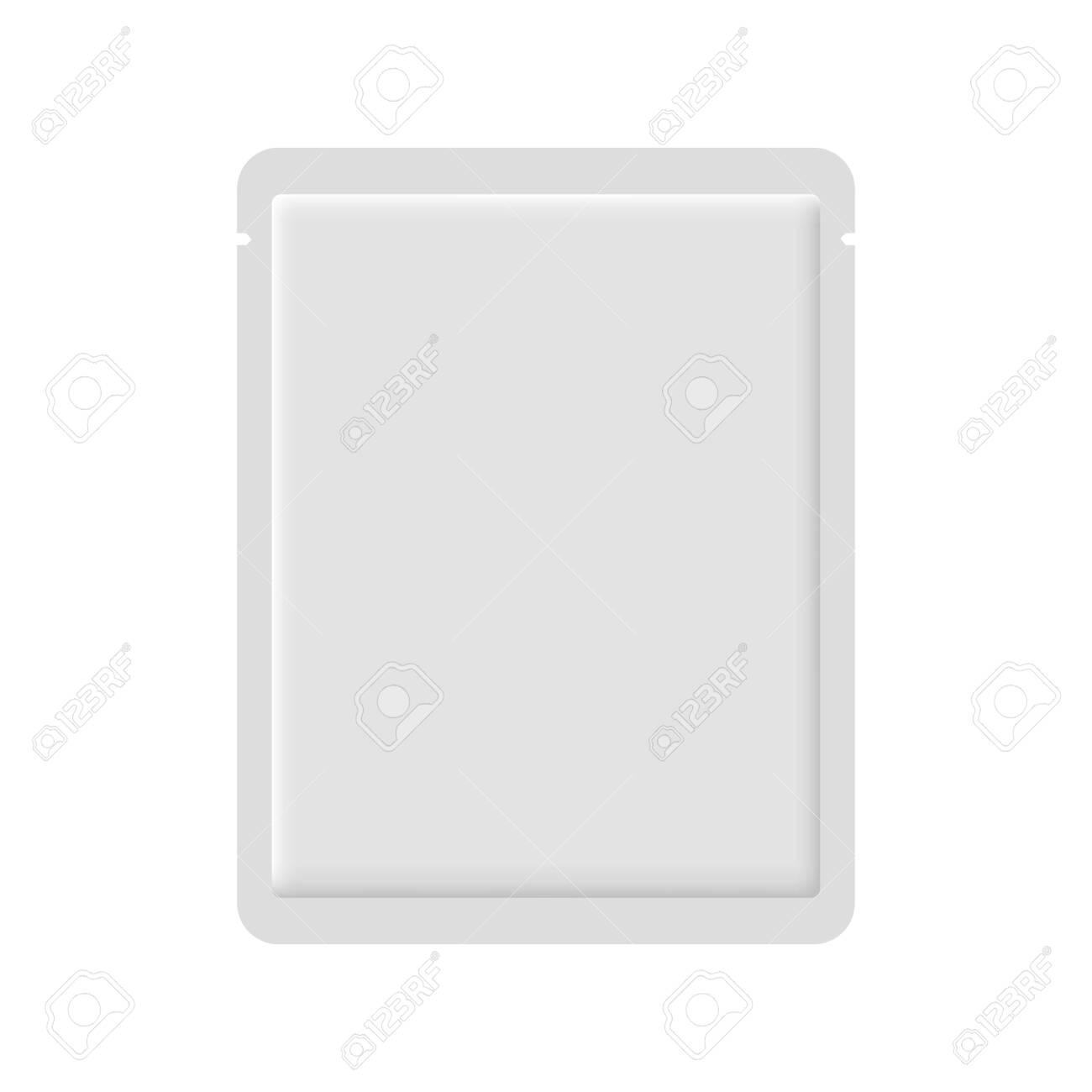 Facial sheet mask blank realistic mockup - 123638848