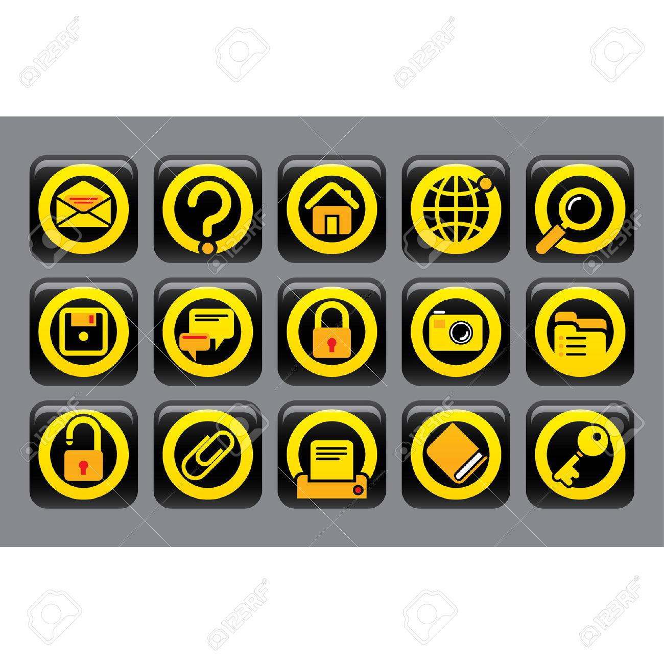 Vector website and internet icons Easy to edit and colorize Stock Vector - 4369291