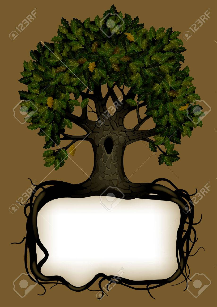 Vector banner with a tree Stock Vector - 4882162