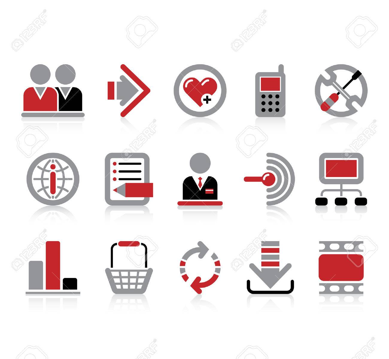Vector website and internet iconsEasy to edit, manipulate, resize or colorize Stock Vector - 4931191