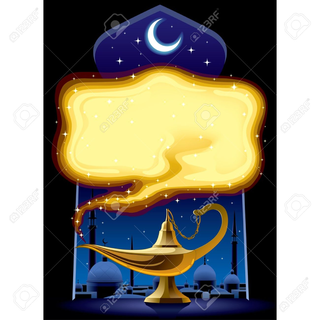 Vector   Vector Poster With The Aladdinu0027s Magic Lamp