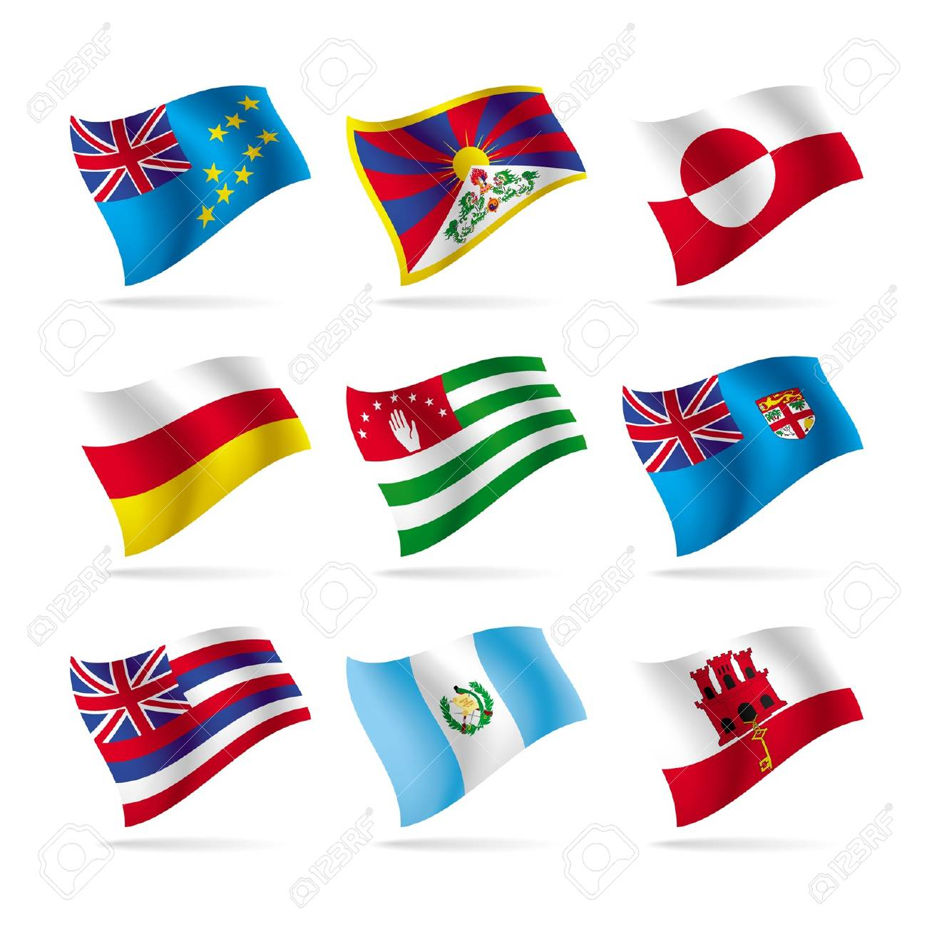 Vector set of world flags 15 Stock Vector - 16415585