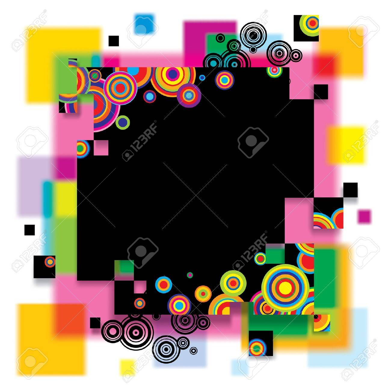 Vector image of a multicolored abstract banner Stock Vector - 16415596