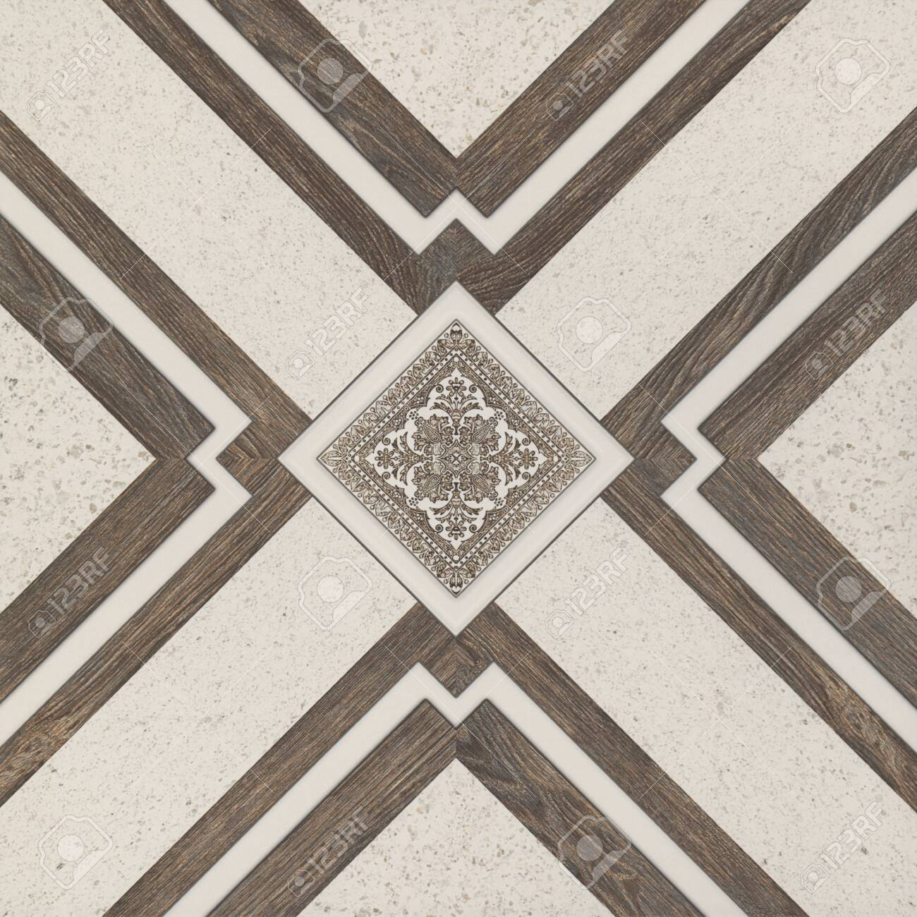 Tiles, Wooden And Marble Geometric Shapes, Wooden Floor And Wall ...
