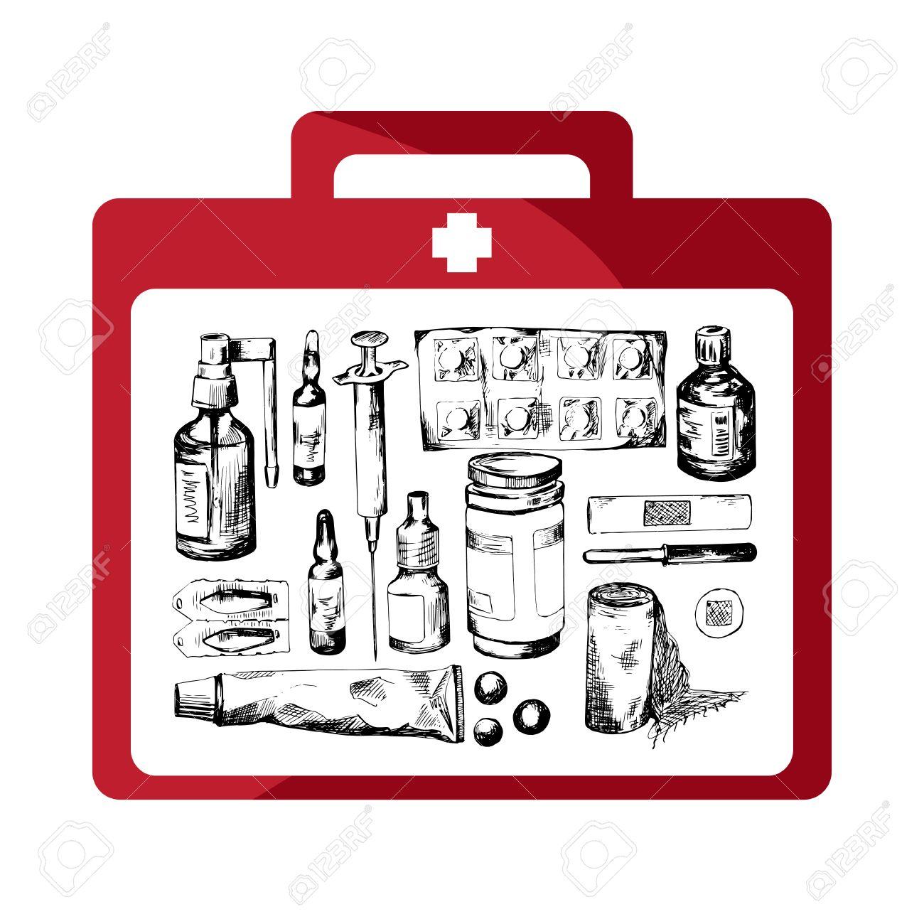 Iodine First Aid Clip Art