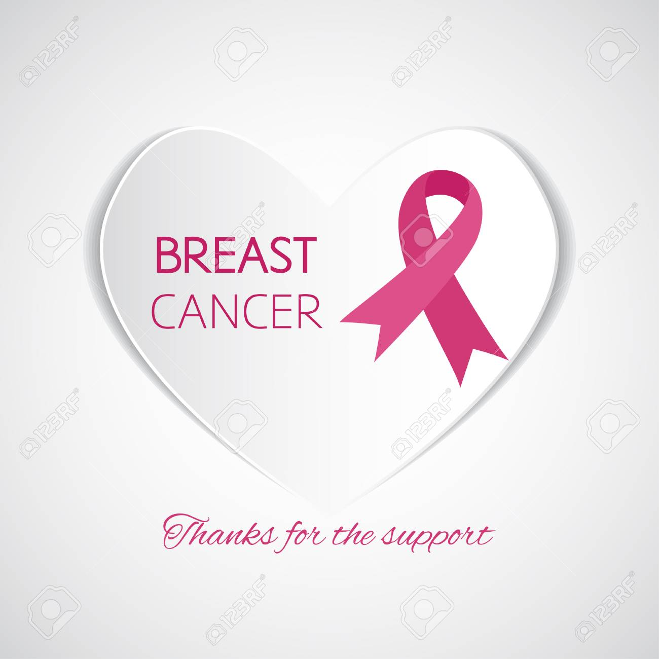 Symbol Of Breast Cancer Support Royalty Free Cliparts Vectors And