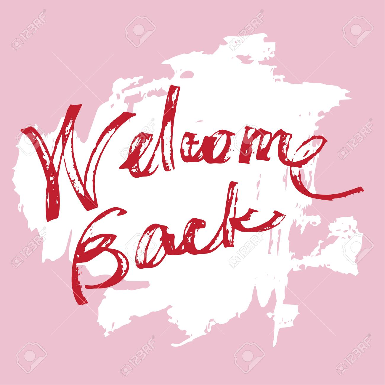 Welcome back grunge greeting card royalty free cliparts vectors vector welcome back grunge greeting card m4hsunfo